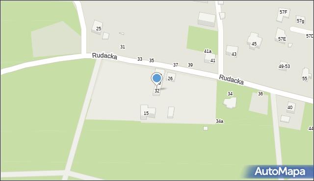 Toruń, Rudacka, 32, mapa Torunia