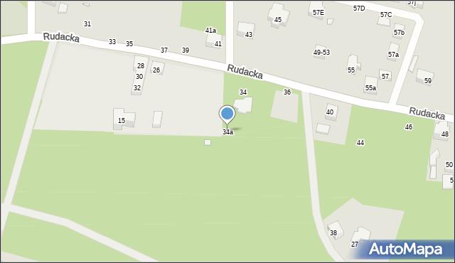Toruń, Rudacka, 34a, mapa Torunia