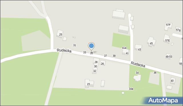 Toruń, Rudacka, 35, mapa Torunia