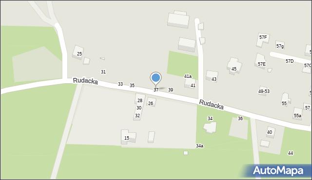 Toruń, Rudacka, 37, mapa Torunia