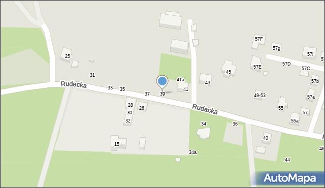Toruń, Rudacka, 39, mapa Torunia