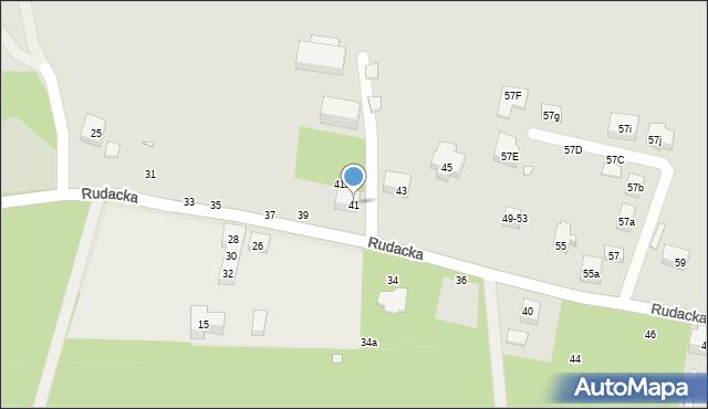 Toruń, Rudacka, 41, mapa Torunia