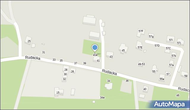 Toruń, Rudacka, 41a, mapa Torunia