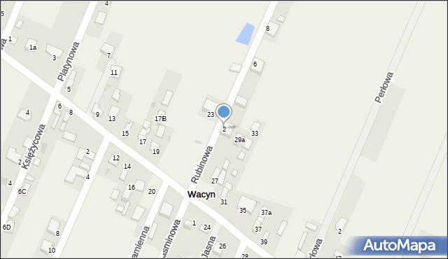 Wacyn, Rubinowa, 2, mapa Wacyn
