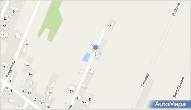 Wacyn, Rubinowa, 8, mapa Wacyn