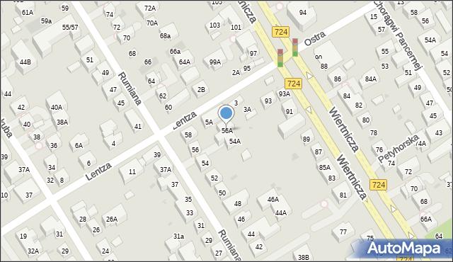Warszawa, Rumiana, 56A, mapa Warszawy