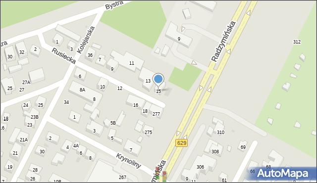 Warszawa, Rusiecka, 15, mapa Warszawy