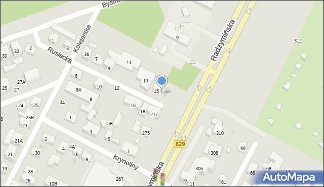 Warszawa, Rusiecka, 17, mapa Warszawy