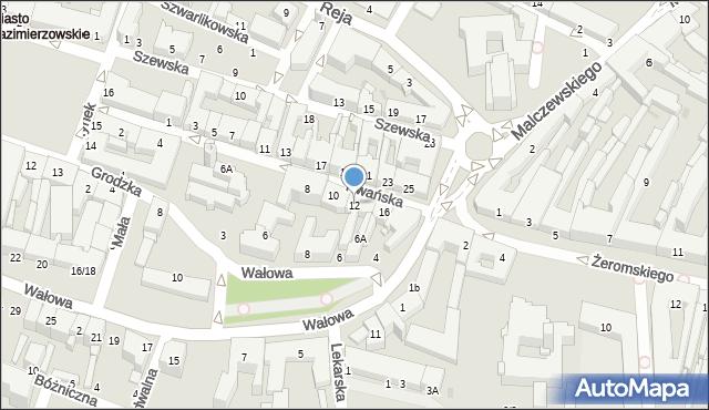 Radom, Rwańska, 12, mapa Radomia