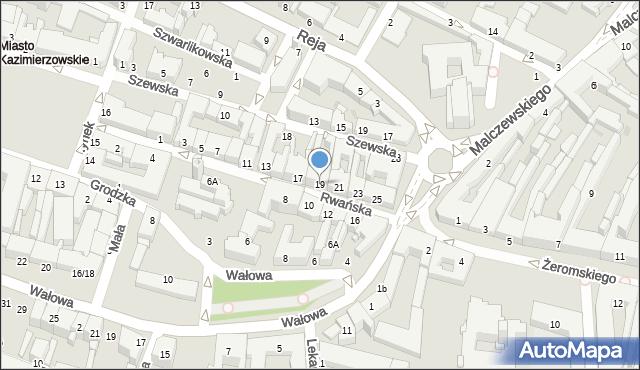 Radom, Rwańska, 19, mapa Radomia
