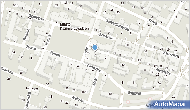 Radom, Rwańska, 2, mapa Radomia