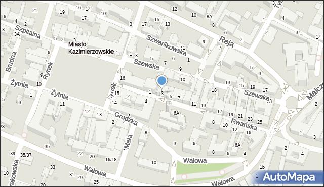 Radom, Rwańska, 3, mapa Radomia
