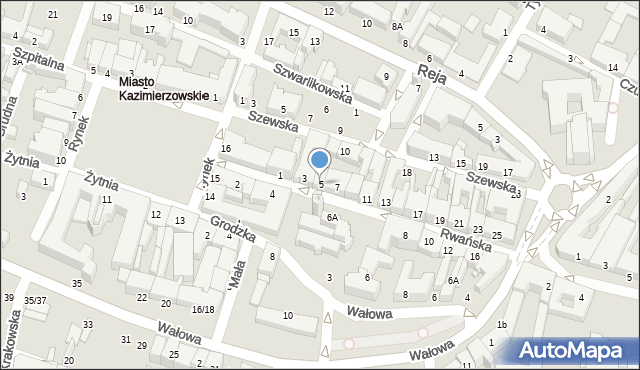 Radom, Rwańska, 5, mapa Radomia