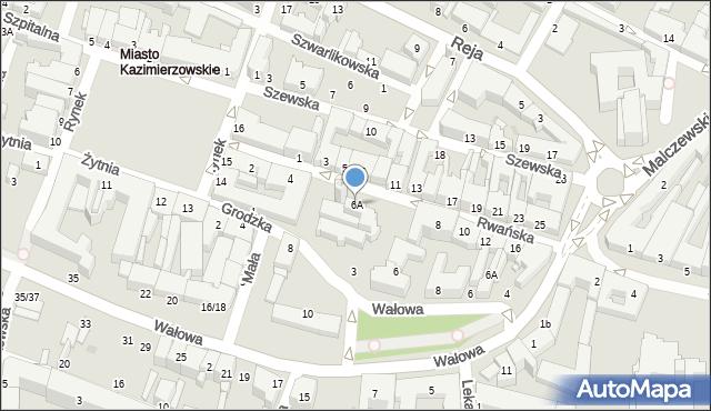 Radom, Rwańska, 6A, mapa Radomia