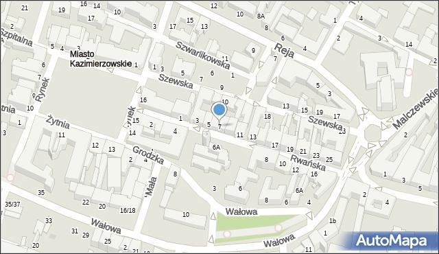 Radom, Rwańska, 7, mapa Radomia
