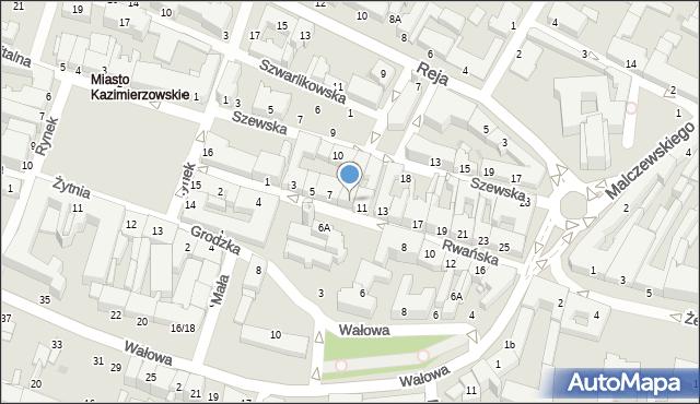 Radom, Rwańska, 9, mapa Radomia