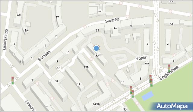 Białystok, Rynek Kościuszki Tadeusza, gen., 15A, mapa Białegostoku