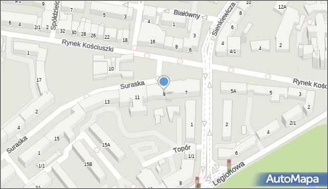 Białystok, Rynek Kościuszki Tadeusza, gen., 9, mapa Białegostoku