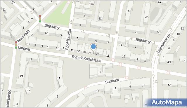 Białystok, Rynek Kościuszki Tadeusza, gen., 24, mapa Białegostoku
