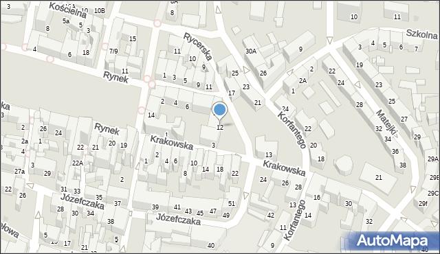Bytom, Rycerska, 12, mapa Bytomia