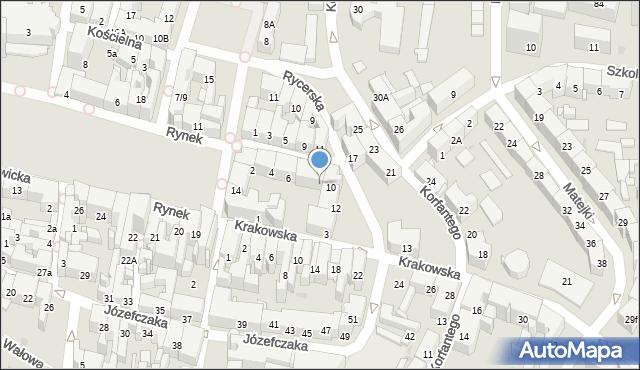 Bytom, Rycerska, 8, mapa Bytomia