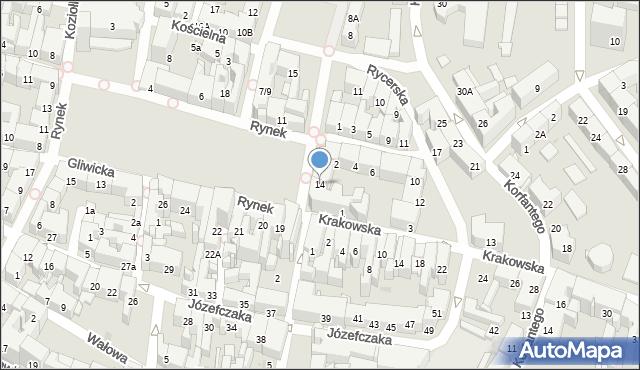 Bytom, Rynek, 14, mapa Bytomia