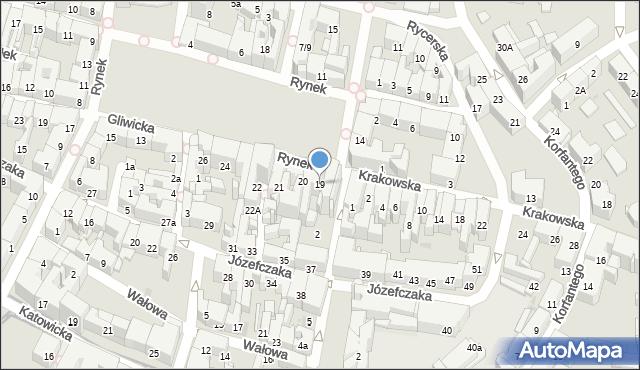Bytom, Rynek, 19, mapa Bytomia