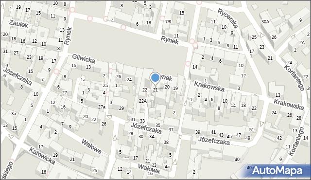 Bytom, Rynek, 21, mapa Bytomia