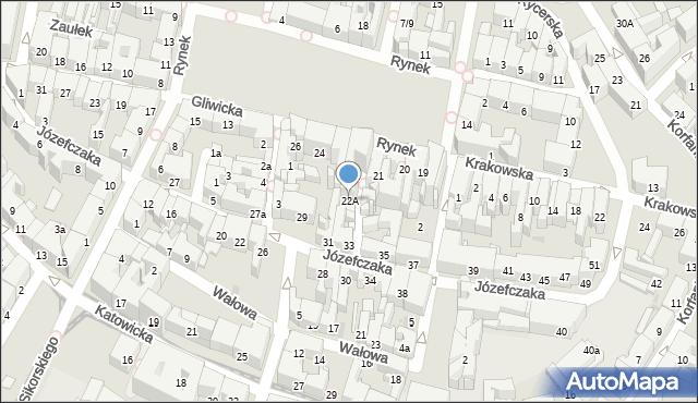 Bytom, Rynek, 22A, mapa Bytomia