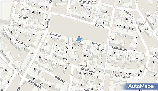 Bytom, Rynek, 24, mapa Bytomia