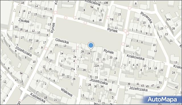 Bytom, Rynek, 25, mapa Bytomia