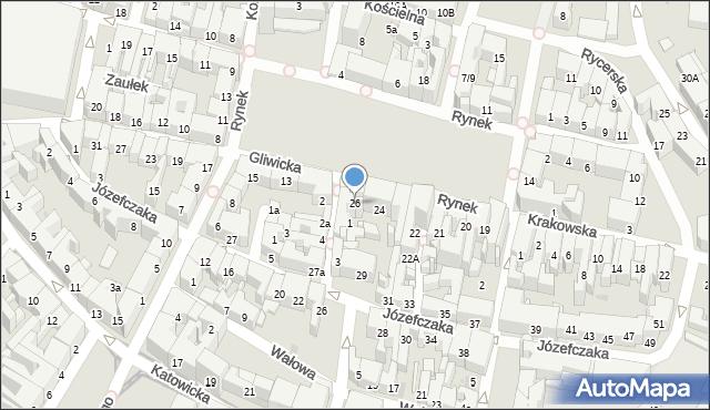 Bytom, Rynek, 26, mapa Bytomia