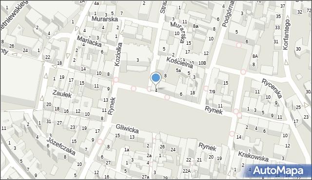 Bytom, Rynek, 4, mapa Bytomia