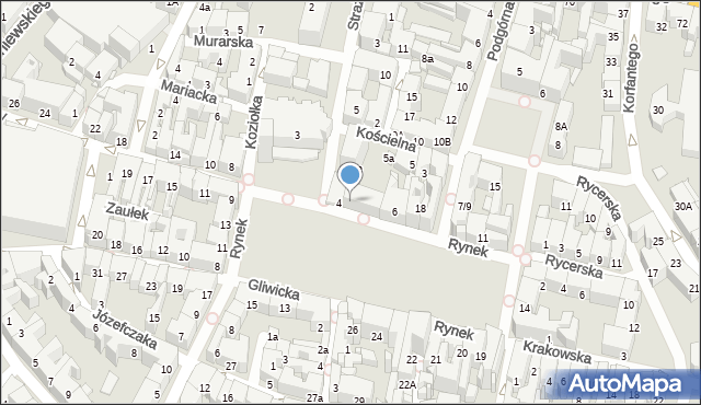 Bytom, Rynek, 5, mapa Bytomia
