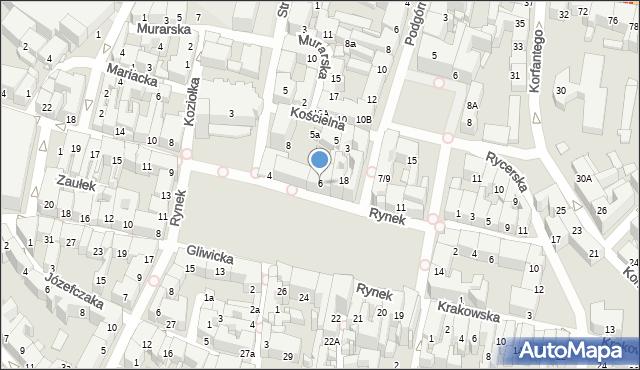 Bytom, Rynek, 6, mapa Bytomia