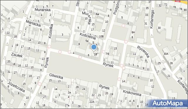 Bytom, Rynek, 7, mapa Bytomia