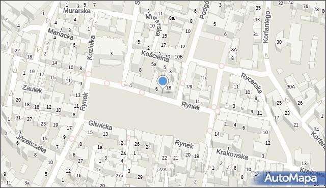 Bytom, Rynek, 9, mapa Bytomia