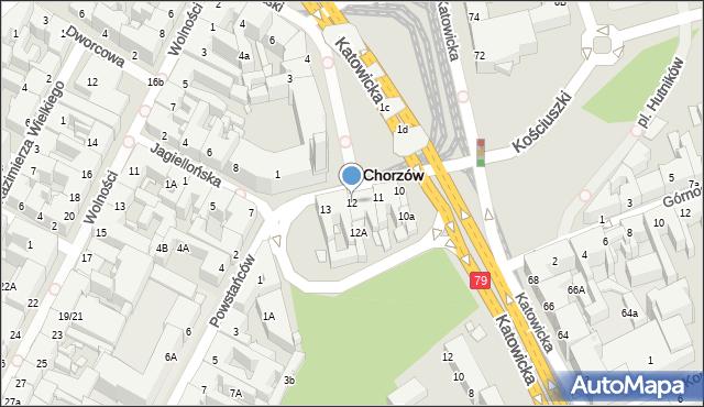 Chorzów, Rynek, 12, mapa Chorzów