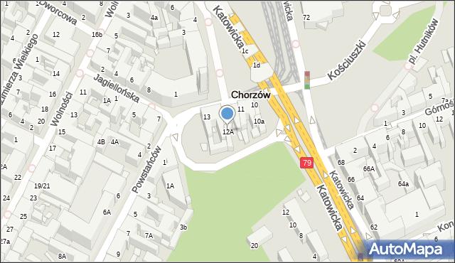Chorzów, Rynek, 12A, mapa Chorzów
