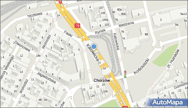 Chorzów, Rynek, 1b, mapa Chorzów