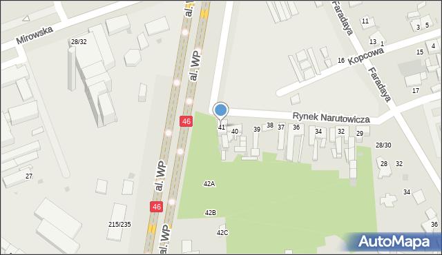 Częstochowa, Rynek Narutowicza Gabriela, 41, mapa Częstochowy