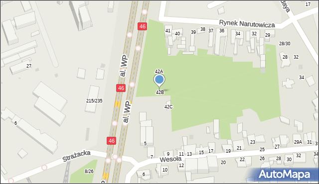 Częstochowa, Rynek Narutowicza Gabriela, 42B, mapa Częstochowy