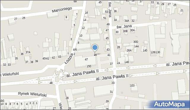 Częstochowa, Rynek Wieluński, 46, mapa Częstochowy