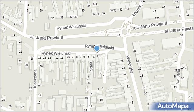 Częstochowa, Rynek Wieluński, 3, mapa Częstochowy