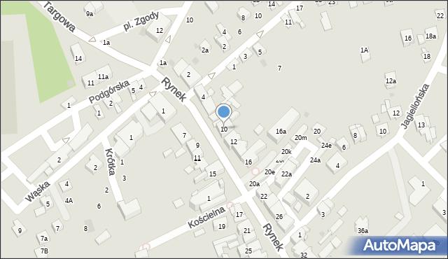 Dobczyce, Rynek, 10, mapa Dobczyce