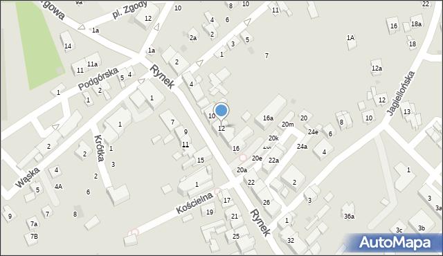 Dobczyce, Rynek, 12, mapa Dobczyce