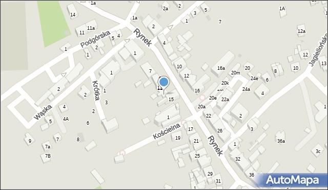 Dobczyce, Rynek, 13, mapa Dobczyce