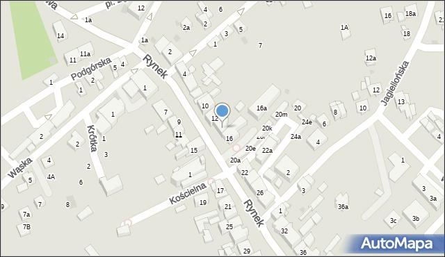 Dobczyce, Rynek, 14, mapa Dobczyce