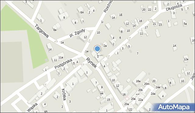 Dobczyce, Rynek, 2, mapa Dobczyce