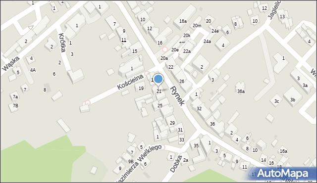 Dobczyce, Rynek, 21, mapa Dobczyce